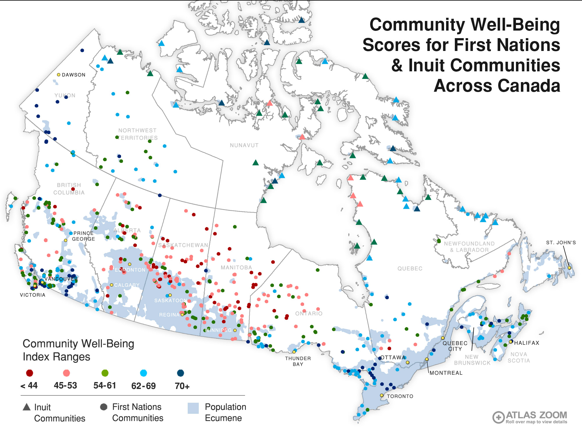 Community Wellbeing Index Canadian Environmental Health Atlas